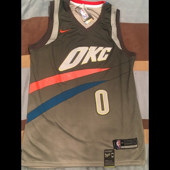 new style d5bcf 93e03 Russell Westbrook 2018 Gray City Edition Jersey. NWT